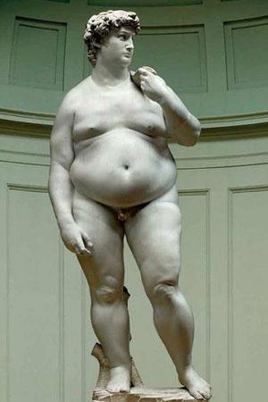 statue of fat David