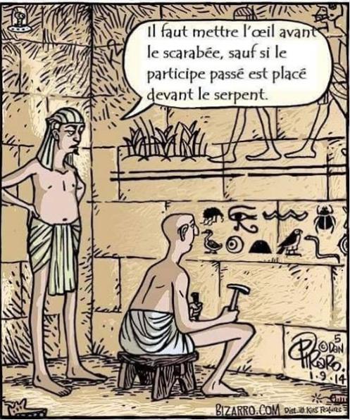 Comic of French hieroglyphics.